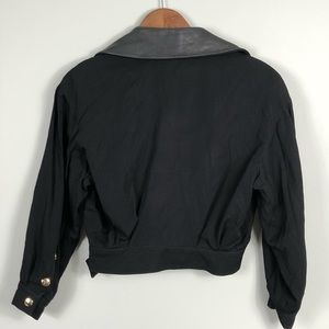 State of Claude Montana Jackets & Coats - State of Claude Montana Leather Collar Crop Jacket